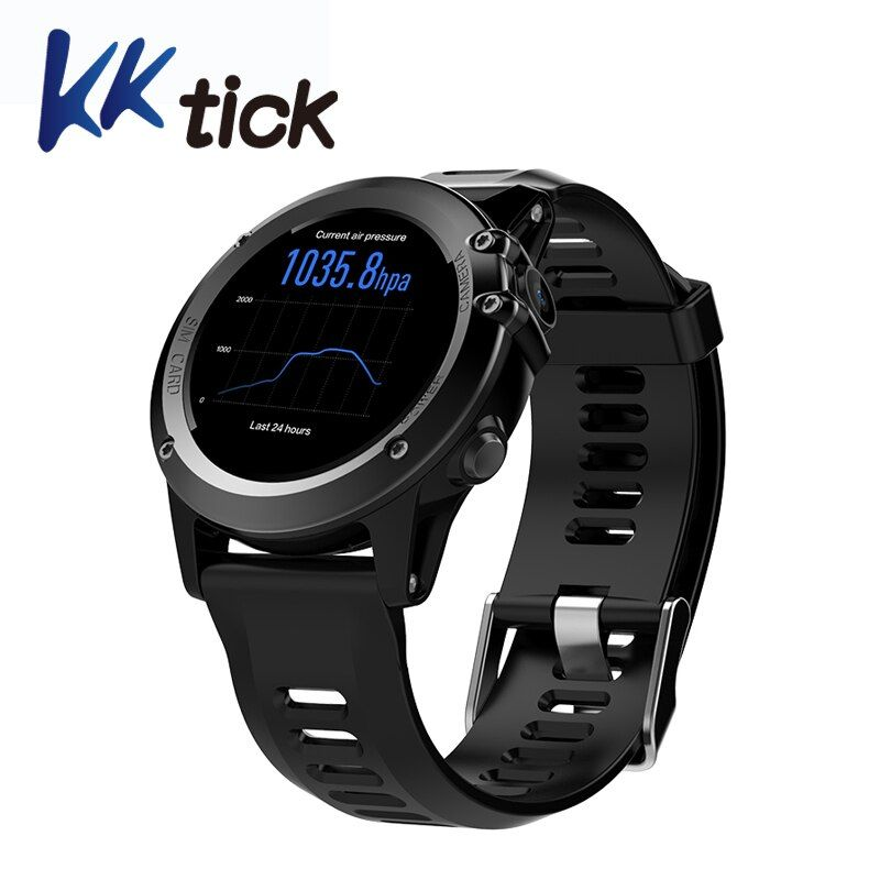 KKTICK H1 Smart watch Android 4.4 IOS MTK6572 512MB 4GB ROM 3G wifi GPS Heart Rate Monitor Camera Waterproof Sports Wristwatch
