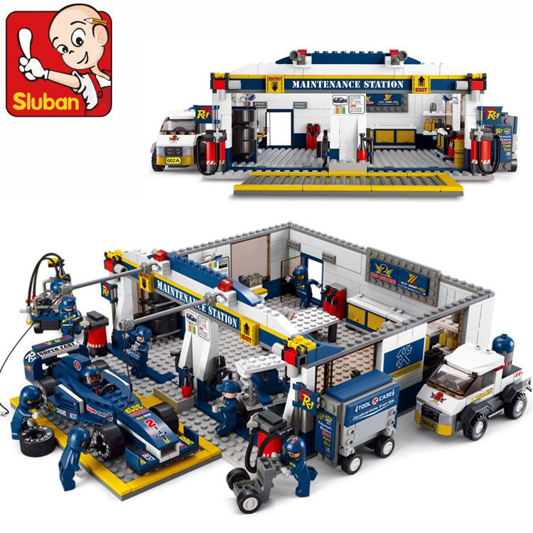 Sluban New F1 Racing Car 741pcs Educational Bricks Toy Without orignial Box Children DIY Kids Toys Kids Best Christmas Gifts