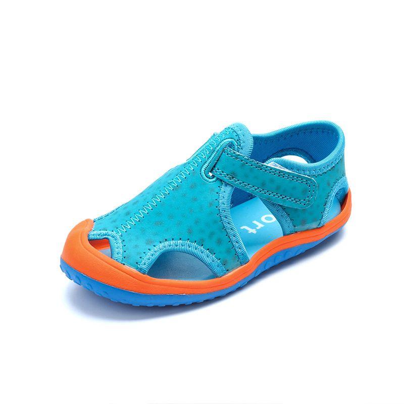 Children Boys Girls Summer Leather Sandals Fashion Kids Summer Patchwork Color Flats Single Shoes Children Antislip Sole Sandal