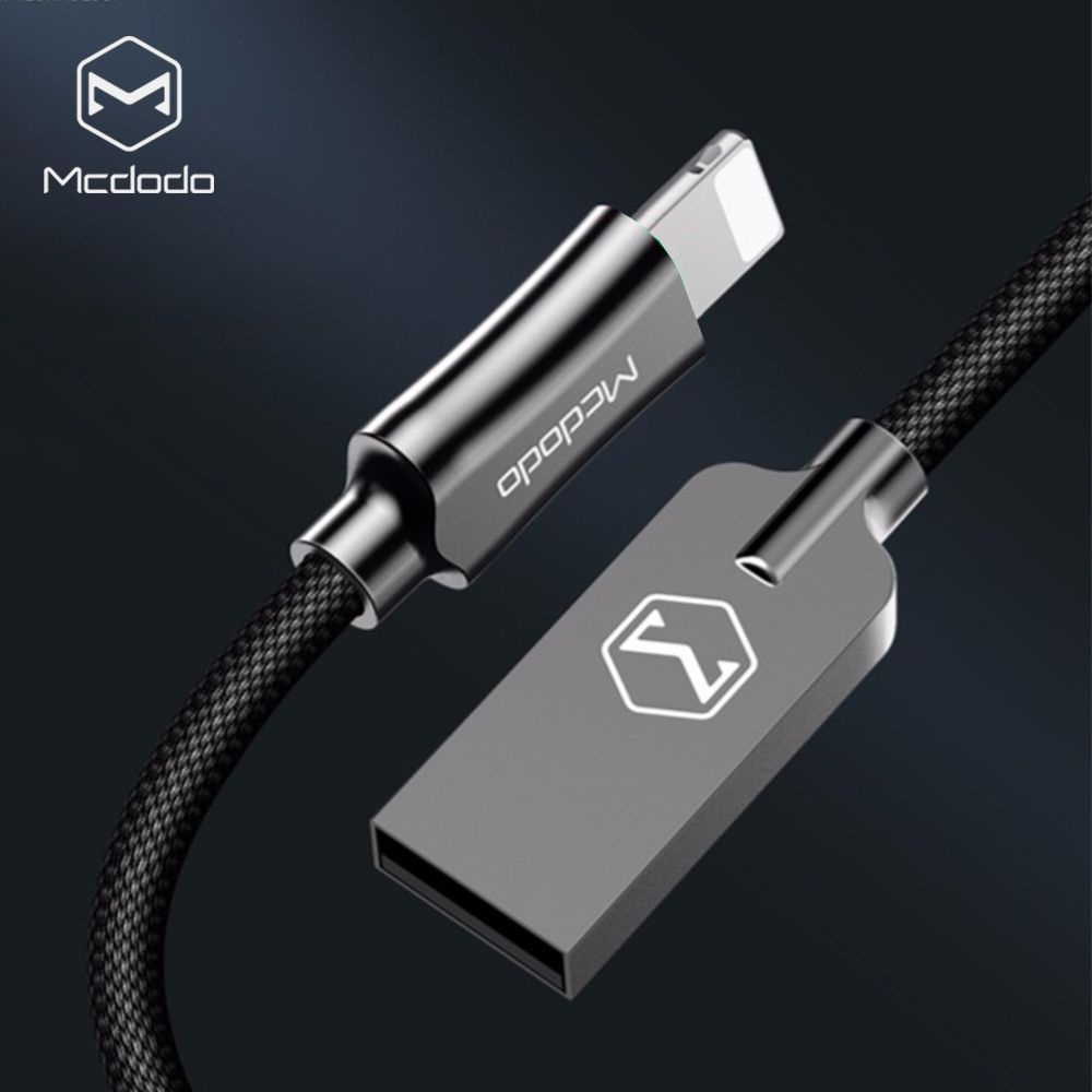Mcdodo For iPhone Cable IOS 12 2.4A Fast Charger 1.2M 1.8M Lightning to USB Cable For iPhone XS Ma'x X 8 7 6 5 Plus Data Cables