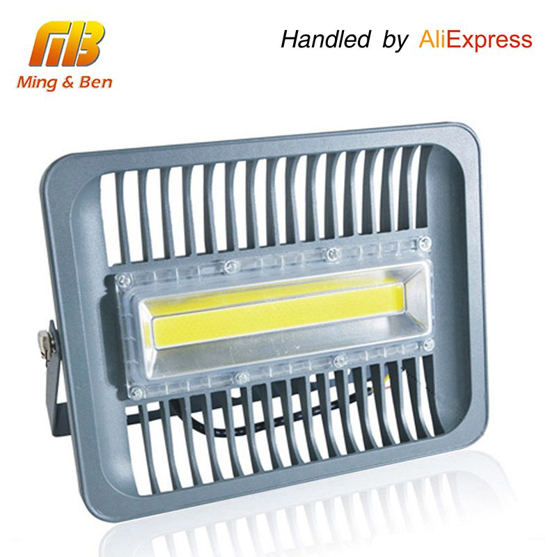 [MingBen] LED Flood Light IP65 WaterProof 30W 50W <font><b>100W</b></font> 220V 230V 110V Flood Light Spotlight Outdoor Wall Lamp Garden Projector
