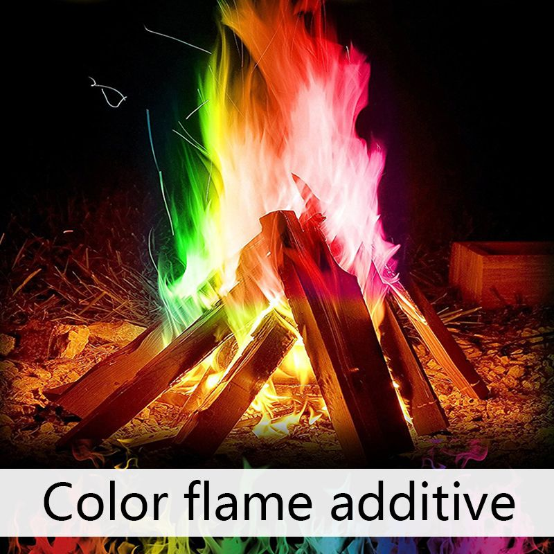 60g Mystical Fire Magic Tricks Coloured Flames Bonfire Sachets Fireplace Pit Patio Color Toy Professional Magicians Pyrotechnics