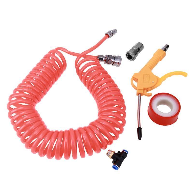 9m PE Spring Pipe Plastic Air Tube Dust Blowing Gun Remover Air Duster Spray Gun Cleaning Tools for Car Paint Spray Gun