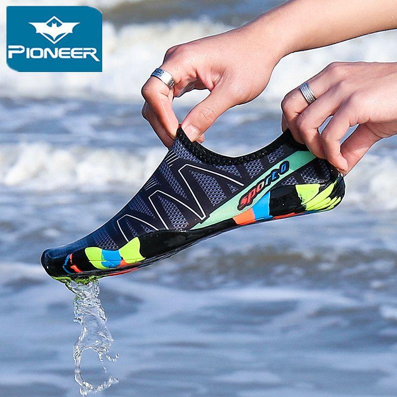 Unisexe plage eau chaussures pour enfants séchage rapide natation enfants Aqua chaussures bord de mer pantoufles Surf en amont chaussures lumineuses baskets