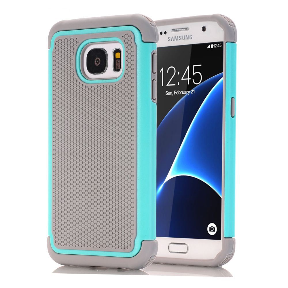 For Samsung Galaxy S7/S7 Edge/S6/S6 Edge Phone Cases,Hybrid Dual Layer Protective Cover Hard Plastic+Soft Silicone Rubber Cases