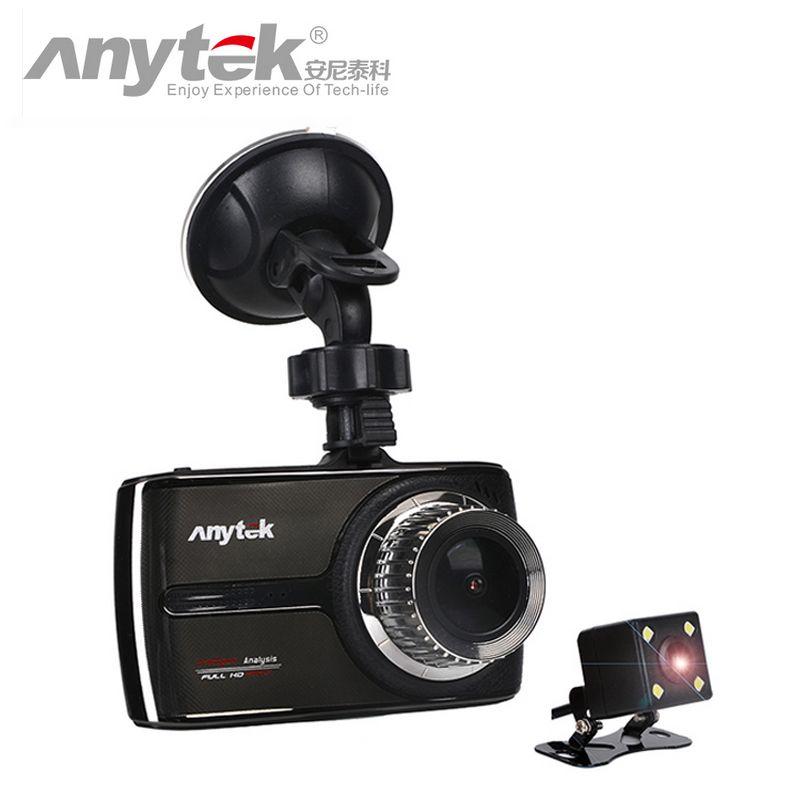 Original Anytek G66 1080P super full HD ADAS DWR HDR Double lens car dvr Night Vision 160 Degree Wide angle car Camera