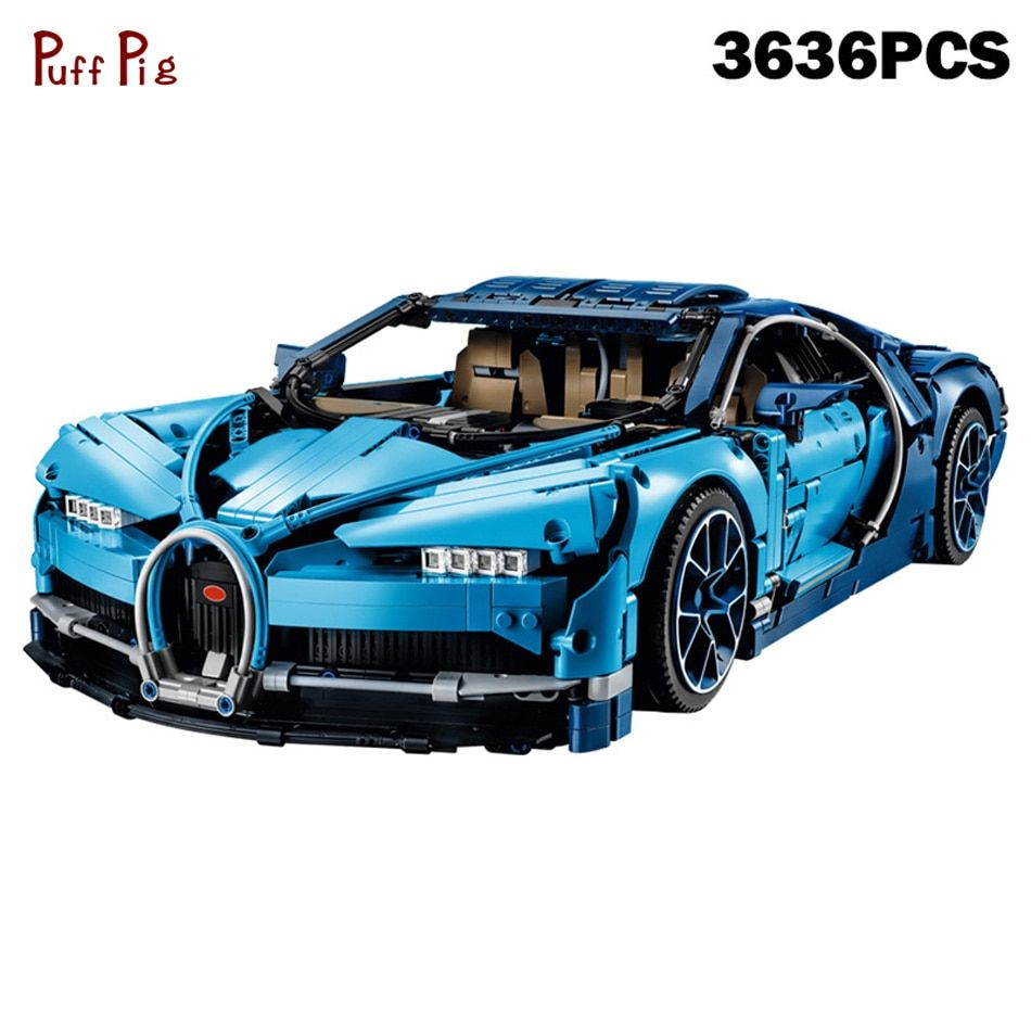 3636Pcs Technic Series Blue Racing Super Car Building Blocks Compatible Legoed Technic Speed Assemble Brick Toys For Kids Gifts