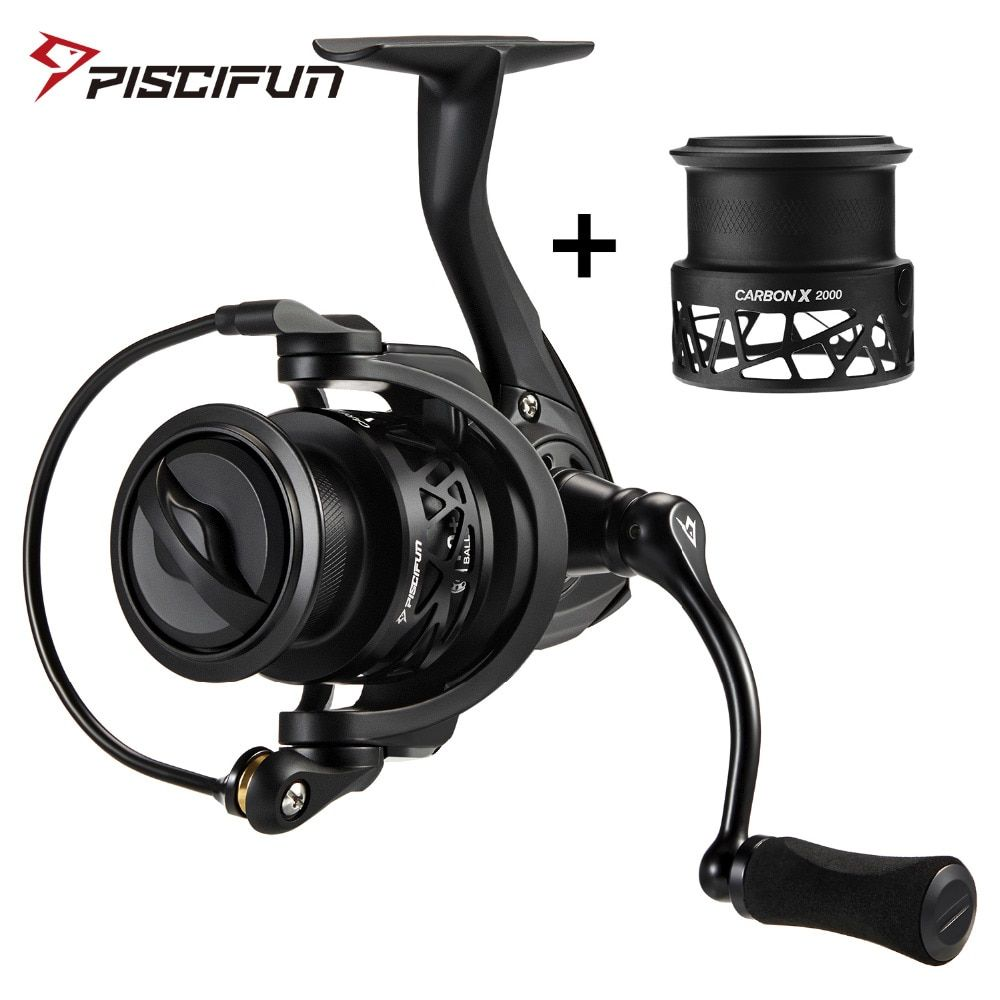 Piscifun Carbon X Spinning Reel Spare Light Spool Light to 220g 6.2:1 Gear Ratio 11 BB 2000 3000 Carbon Frame Rotor Fishing Reel