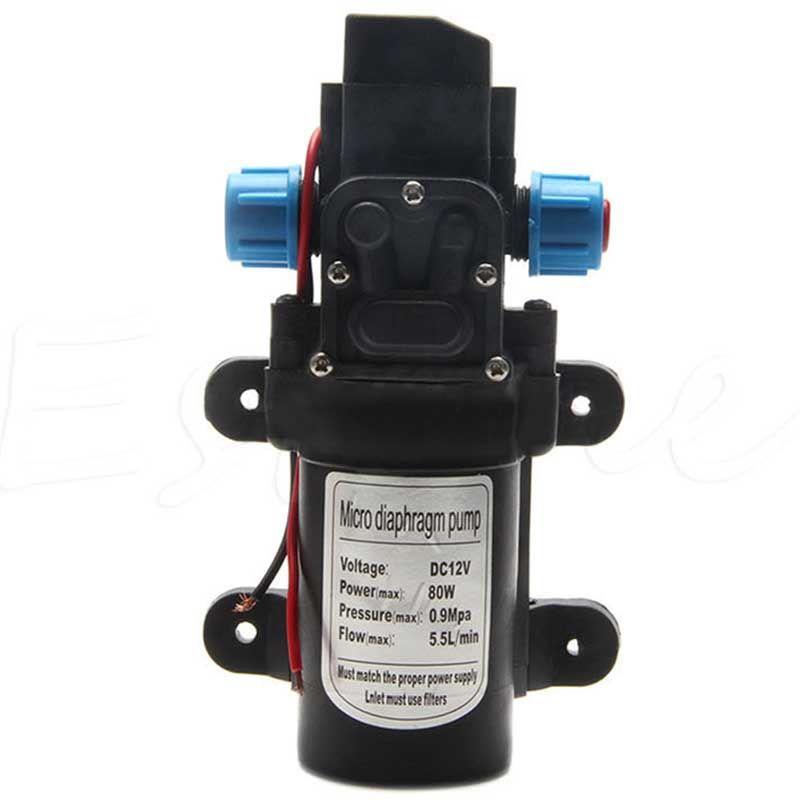 High Pressure Diaphragm Water Pump DC 12V 80W Self Priming Diaphragm Water Pump 5.5L/min For RV Boat