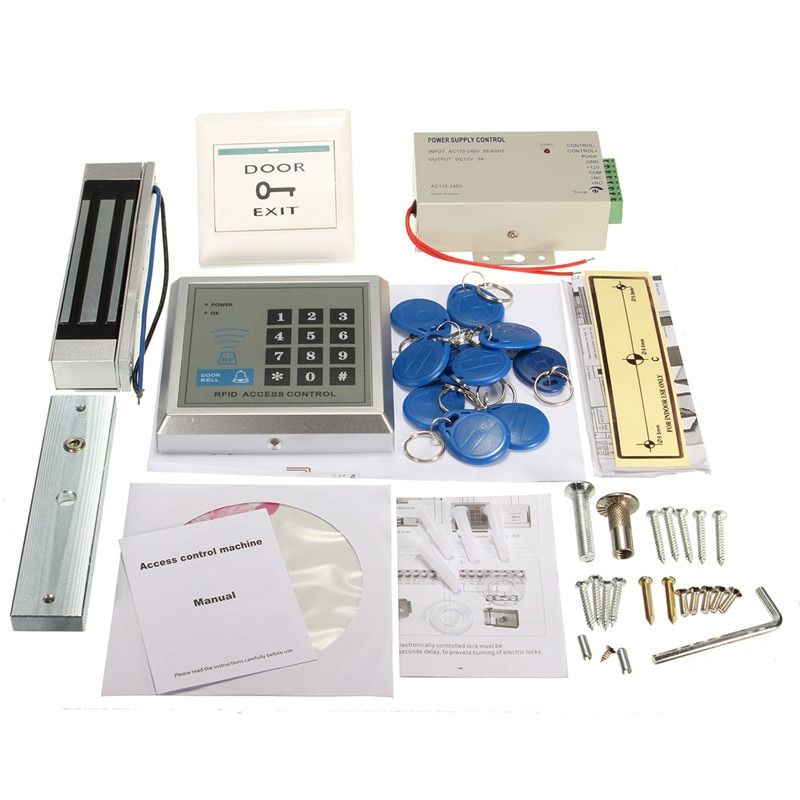 1 Set Electric Door Lock Magnetic RFID Access Control ID Password Safty Entry System New Arrival High Quality