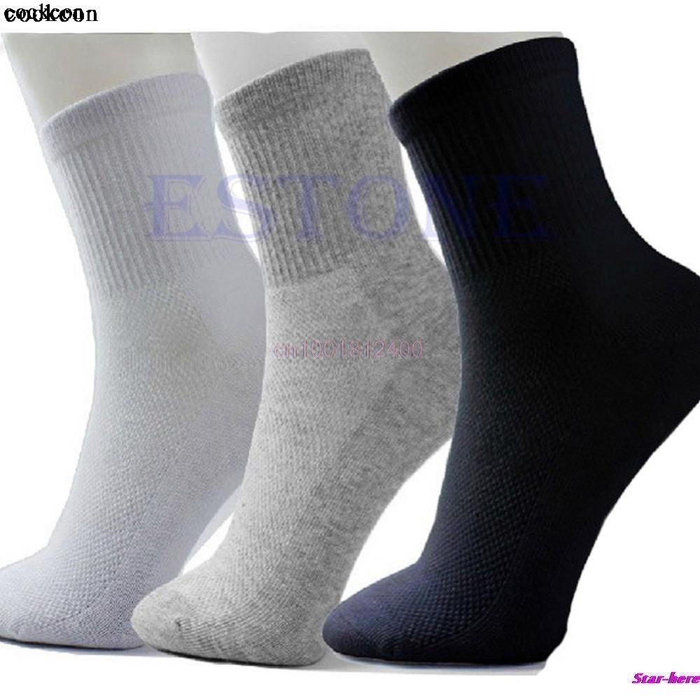 10 Pares de Calcetines de Los Hombres del Estilo Del Otoño Del Verano hombres Calcetines Calcetín de Poliéster de Calidad Para Los Hombres 3 Colores
