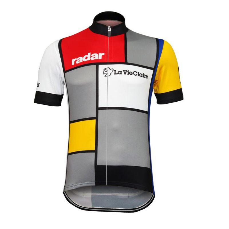 Hot Sale Retro La Vie Claire Cycling Pro Jersey Men MTB Shirts Breathable Bike Clothing Quick Dry Sport Tops