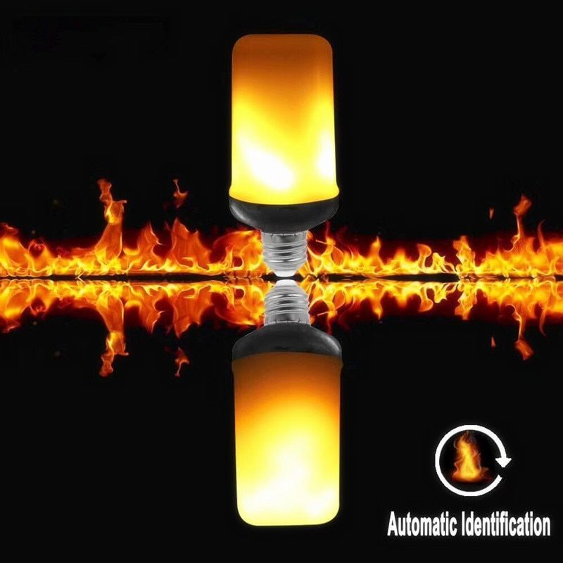 LED Flame Flickering Light 9W E27 E26 Creative Lights LED Flame light Gravity Sensor Decorative 3 modes LED Fire Light 5pcs/lot