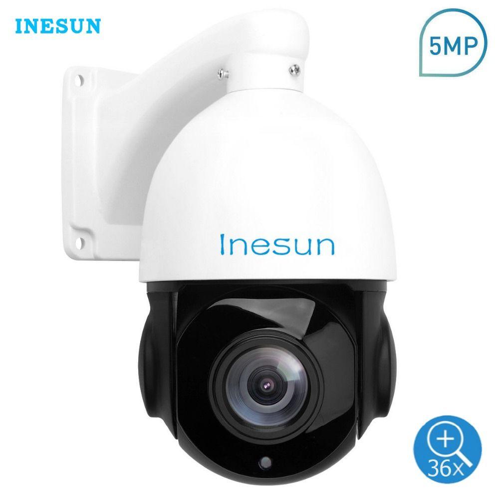 Inesun 5MP PTZ IP Kamera Outdoor Onvif 36X Optische Zoom Wasserdichte Mini Speed Dome Kamera 300ft IR Nachtsicht Motion erkennung