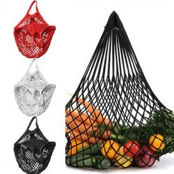 Brand NEW 1PC Reusable String Shopping Grocery Bag Shopper Tote Mesh Net Woven Cotton Bag Hand Totes Free Shipping