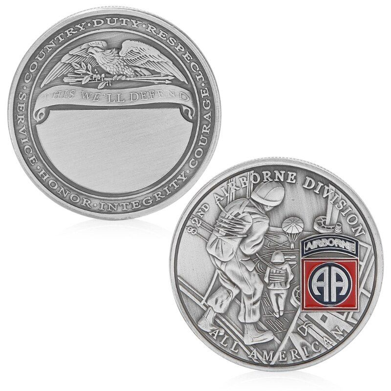 Coin Souvenir 82nd Airborne Division All American Commemorative Challenge Coin Collection Souvenir