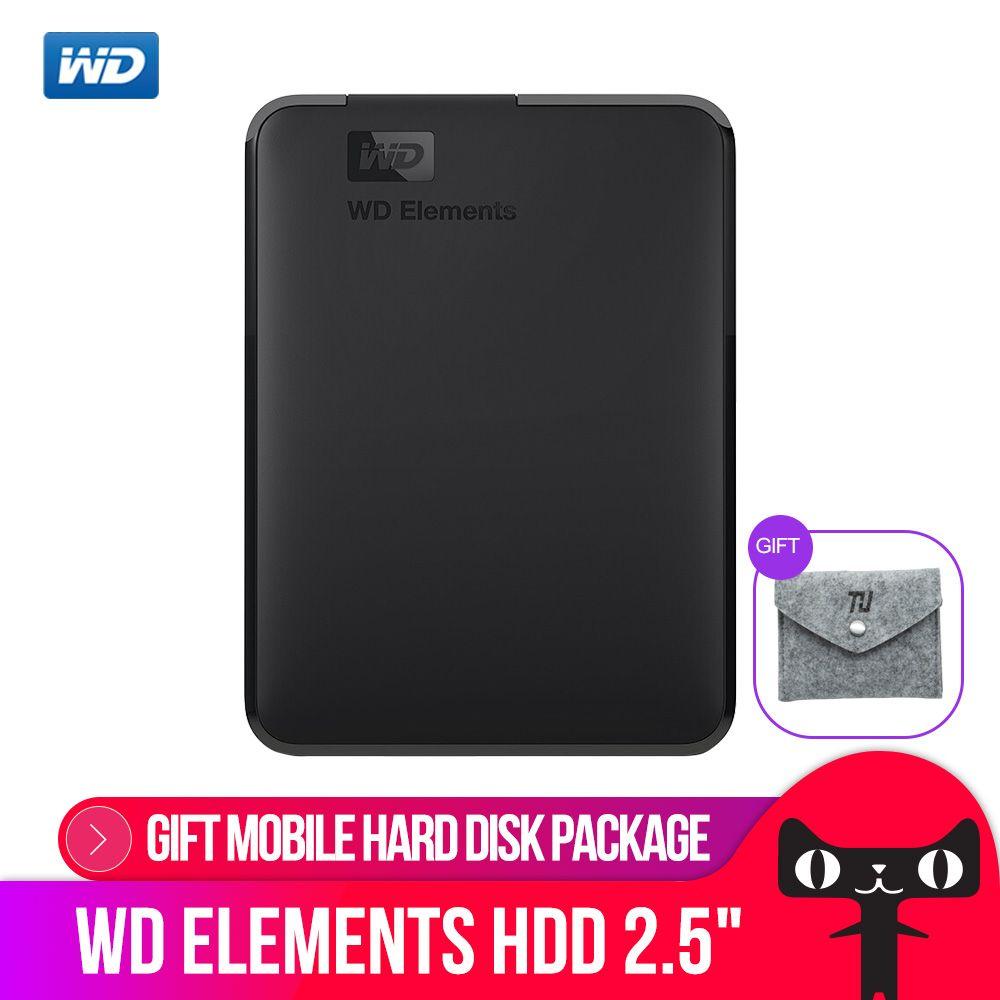Western Digital WD Elements Portable External hdd 2.5 USB 3.0 Hard Drive Disk 500GB 1TB 2TB  4TB  Original for PC laptop