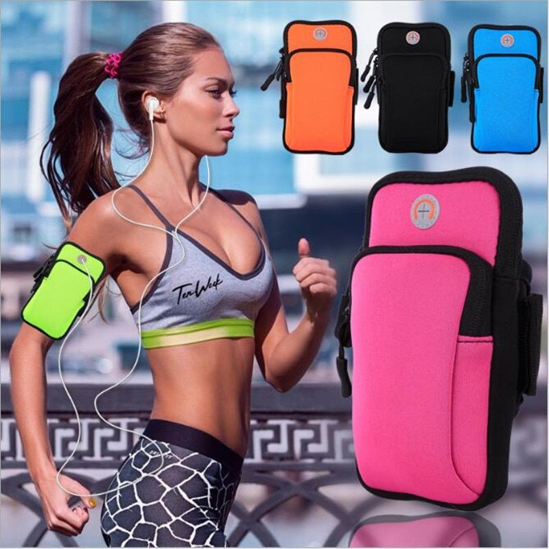 Sports Running Armband Bag Case Cover Running Armbands Universal Waterproof Mobile Phone Bags Holder Outdoor Sport Phone Arm pou