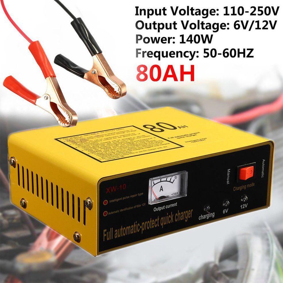 Volle Automatische-schützen Schnell Ladegerät 6 V/12 V 80AH 140W Automatische Intelligente Auto Batterie Ladegerät Negative puls