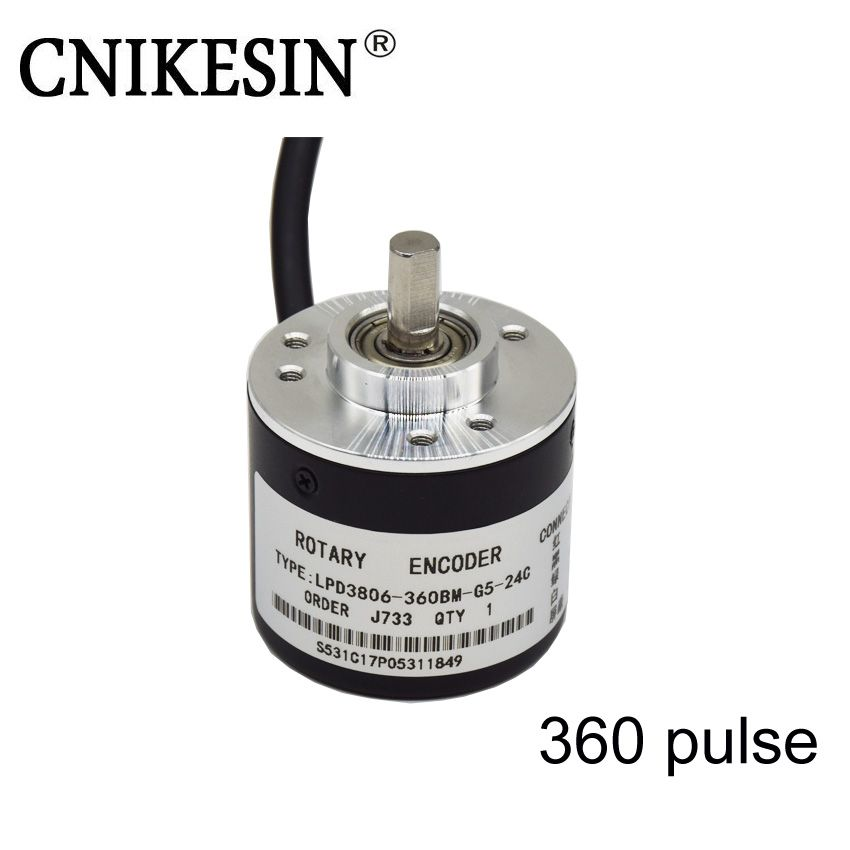 CNIKESIN 360pulse Incremental Photoelectric Rotary Encoder 5-24V Coupling NPN output