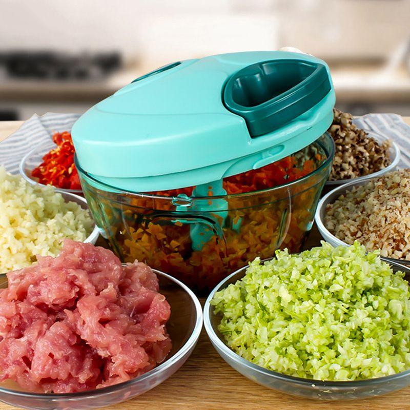 Multifunktions Gemüse Chopper Cutter Prozessor Chopper Knoblauch Cutter Gemüse Obst Twist Schredder Manueller Fleischwolf saft