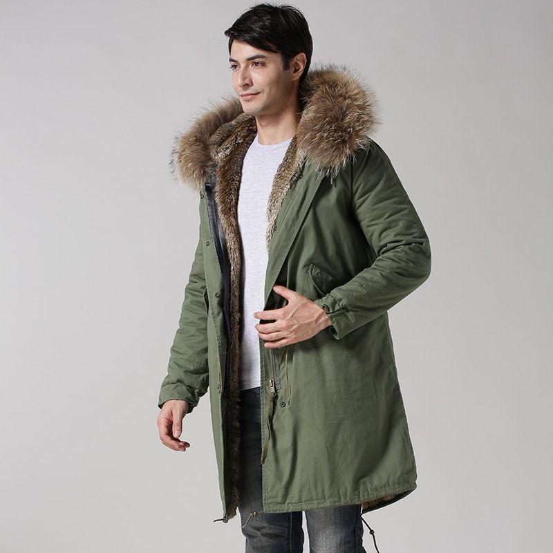 2015 winter neuen stil Mr faux fell natürliche farbe pelz lange stil Männliche Jacke