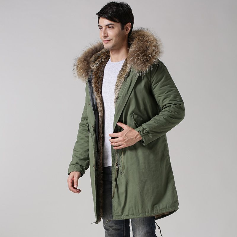 2015 winter new style Mr faux fur natural color fur long style Male Jacket