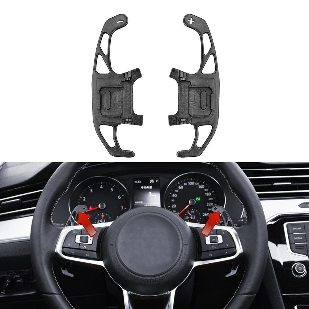 For VW GOLF GTI R GTD GTE MK7 7 POLO GTI Scirocco 2014-2019 Metal Car Steering Wheel Paddle Extend Shifter Replacement