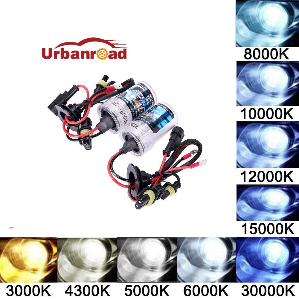 2 шт. 6000 К H4 H1 H7 55 Вт ксеноновая лампа огни h4 привет низкой Xenon H1 H3 H8 H9 h11 9005 HB3 9006 Hb4 HID H7 35 Вт 55 Вт 6000 К 8000 К лампа
