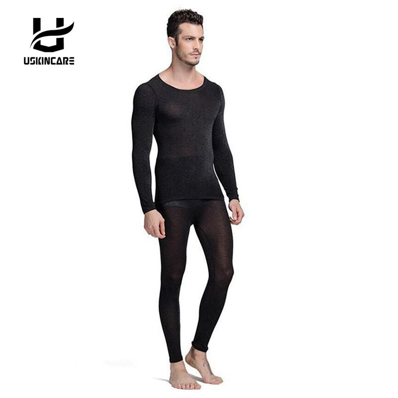 Seamless Winter 37 Degree Men Slimming Warm Thermal Underwear Ultrathin Heat Long Johns Super Elastic Thin Body Suit For Homme