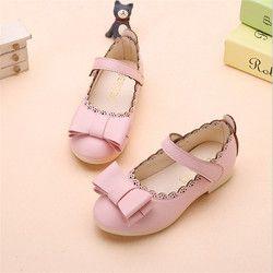 Printemps et automne nouveau style de fille confortable chaussures plates enfants arc casual chaussures.