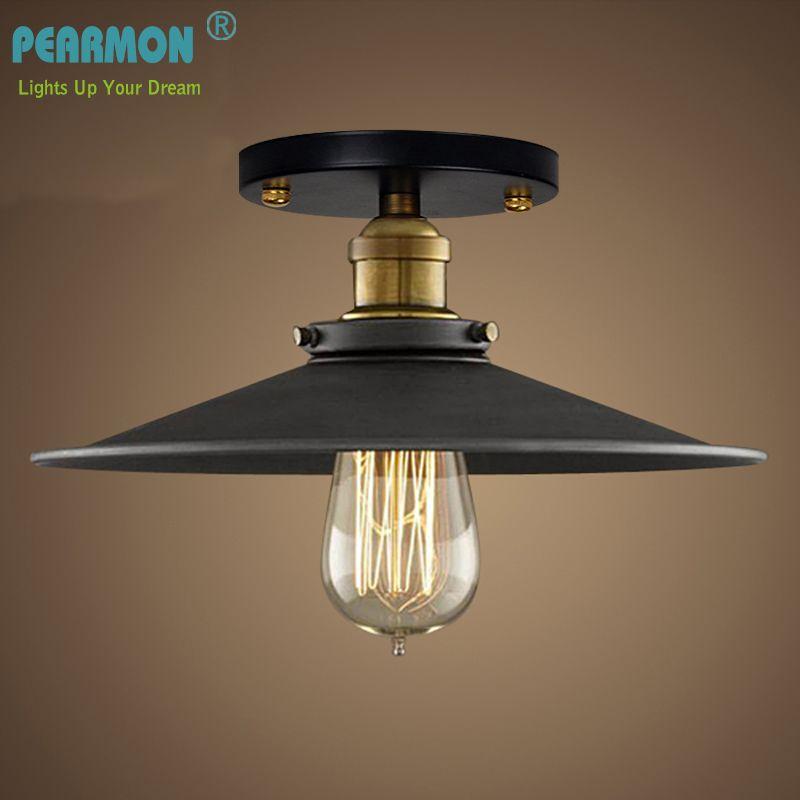 Vintage Retro Ceiling Light Loft <font><b>Industrial</b></font> Edison Bulb Metal Light Country style Sconce Lamp Fixtures American Style Good Light