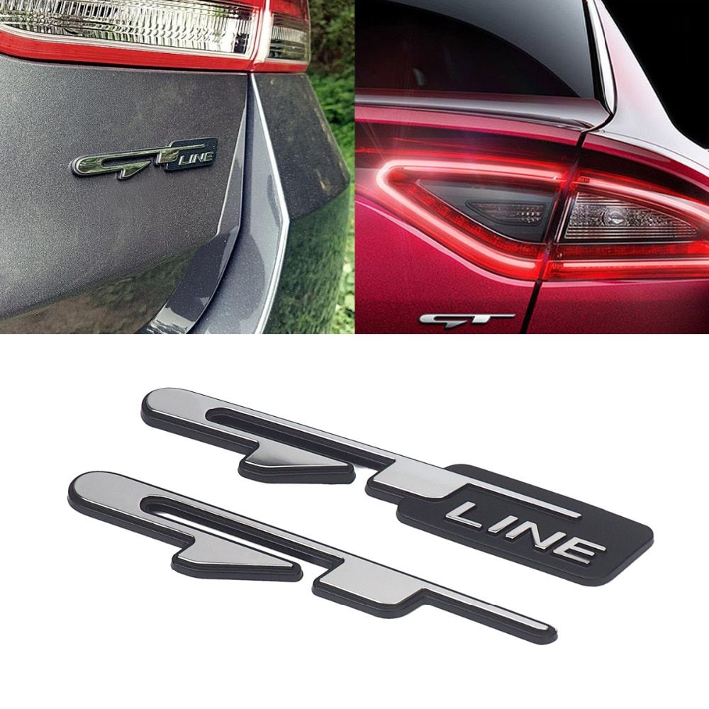 Car Sticker For KIA Optima K5 GT Line Auto Logo Emblem Badge Rear Tail Trunk Decal Stickers