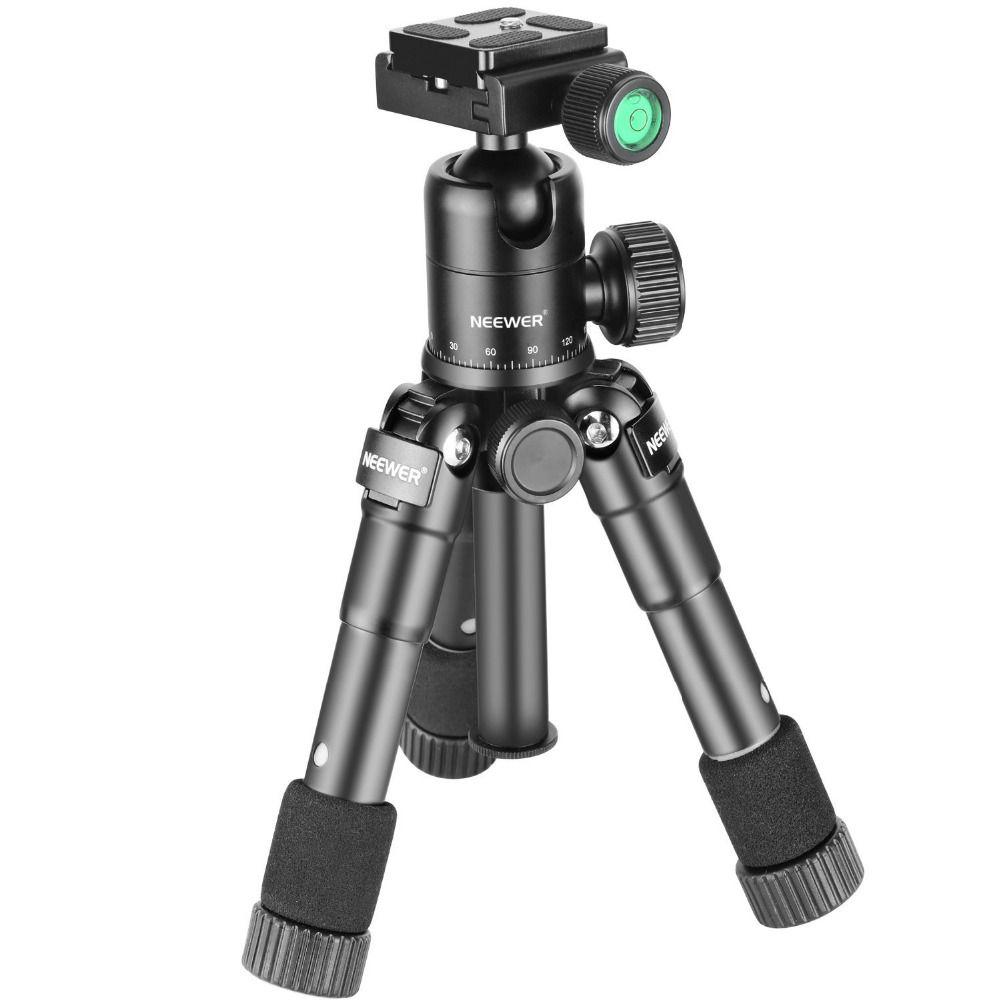 Neewer 20 pouces/50 cm Compact Portatif De Bureau Macro Mini Trépied 360 Degré Rotule 1/4 pouces à Dégagement Rapide plaque pour Canon