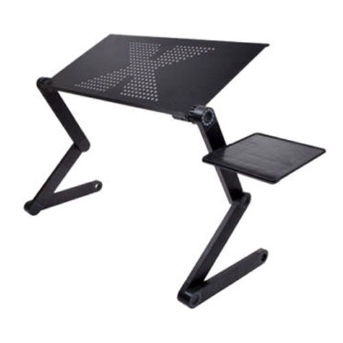 GSFY-Portable Foldable Adjustable Laptop Desk Computer Table Stand Tray For Sofa Bed Black