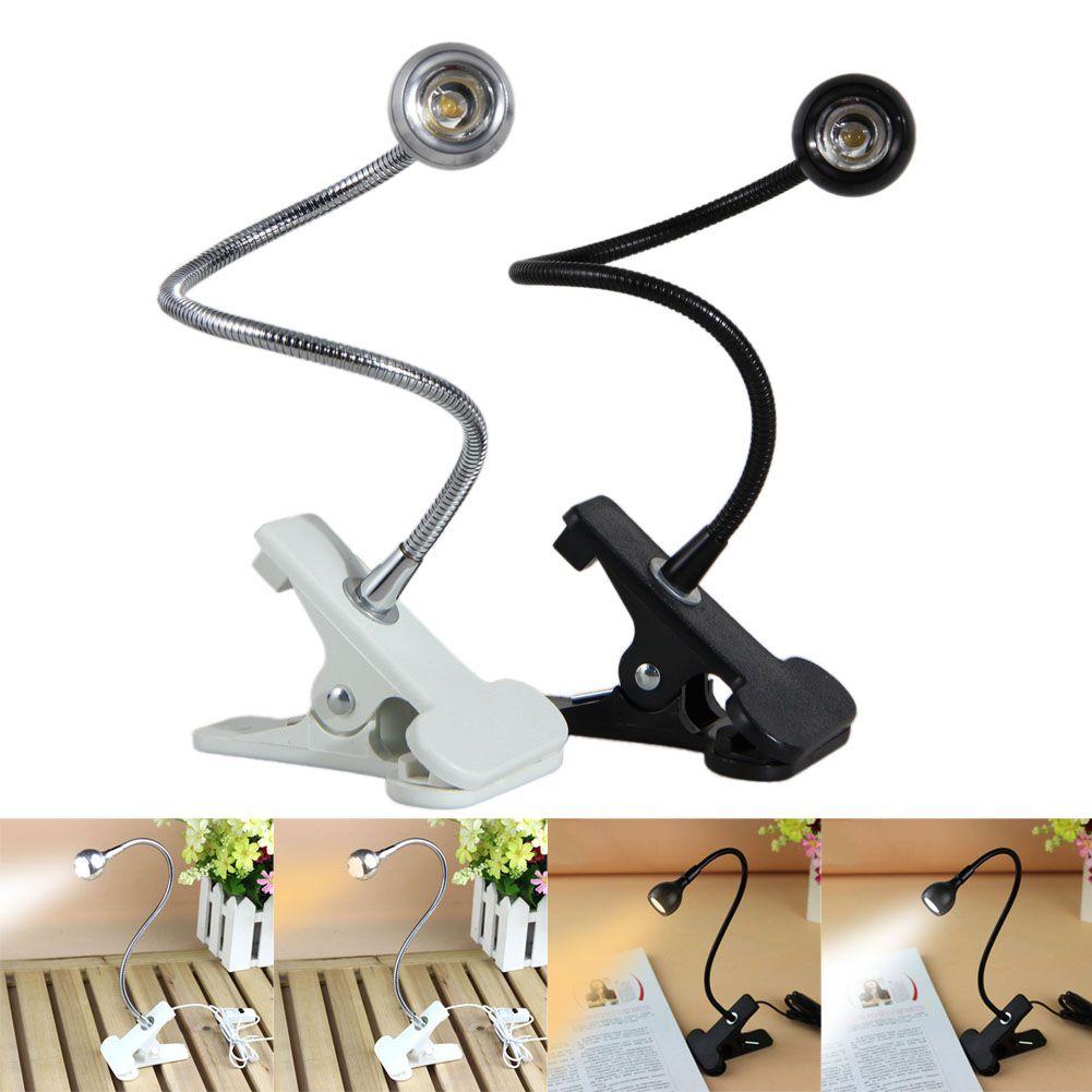 USB Flexible Ständer Clip LED Leselampe Clip-on Nachttisch Computer Schreibtischlampe Studentenwohnheim Lampe beleuchtung