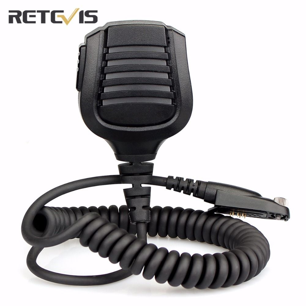 Walkie Talkie Accessories Black  Retevis IP67 Waterproof Speaker Microphone For Retevis RT82 Portable Ham Two Way Radio J9127M