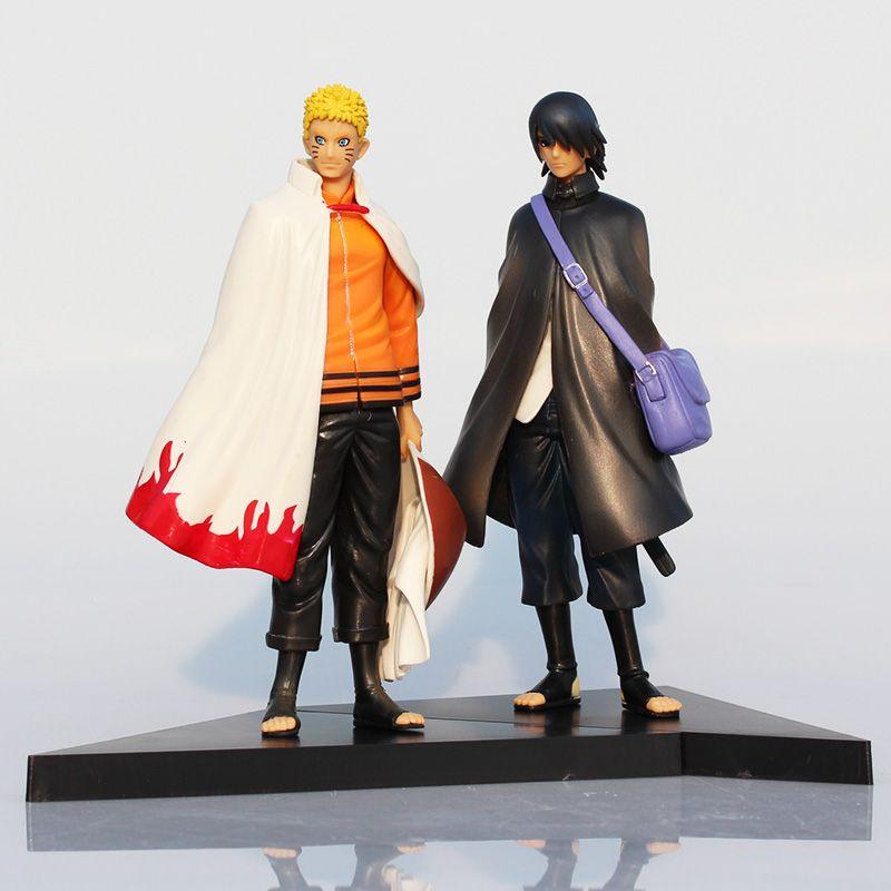2 pcs/ensemble 16 cm Naruto Figure Uchiha Sasuke Naruto Uzumaki PVC Figure Jouet Modèle Poupées Grands Cadeaux