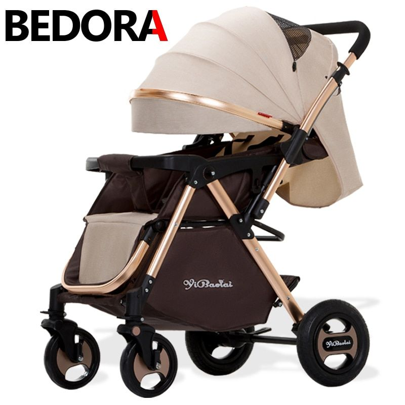 BEDORA High Landscape Baby Strollers Can Sit Down And Lie Down Portable Type Fold Baby Two-way Baby Cart Baby