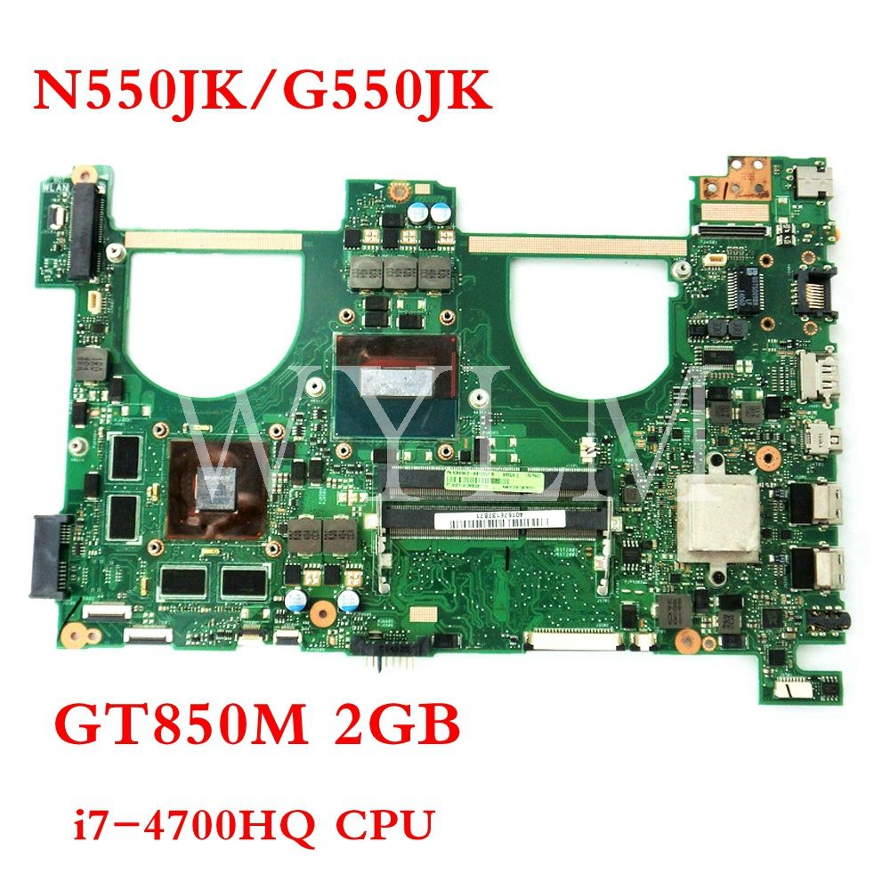 N550JK GT850M 2GB i7-4700HQ mainboard REV2.1 For ASUS Q550JV N550J N550JV N550JK G550JK Laptop motherboard Tested free shipping