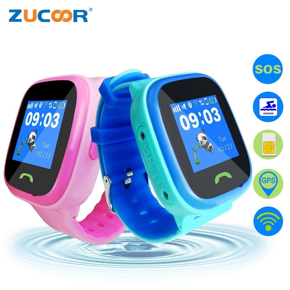 ZUCOOR Children's Smart Child Watch Kid Wristwatch GSM GPRS GPS Locator Tracker Anti-Lost Child WiFi Position Waterproof Clock
