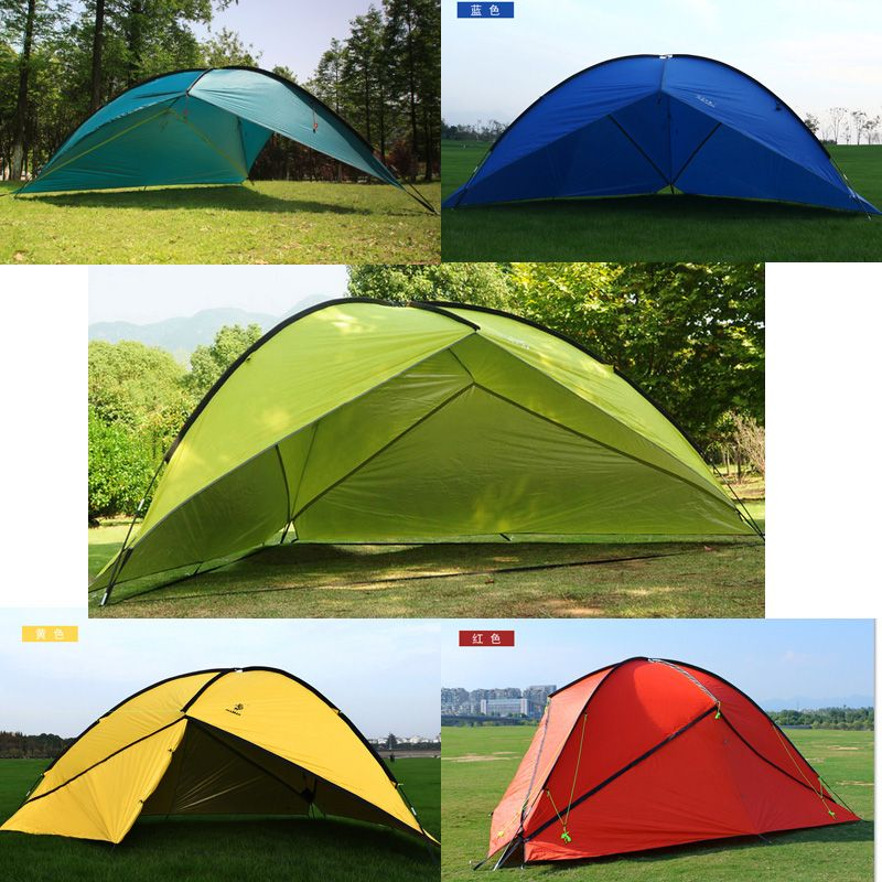 Hillman outdoor large space triangle sunshade camping tent multiple family beach sunshade awning 1wall/2wall/3wall for choose