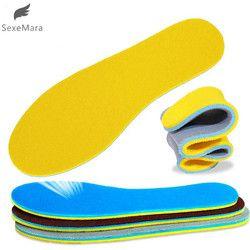 Gootrades 1 Pasang Wanita Pria Memori Sepatu Sol Penyerap Deodoran Kaki Lembut Rasa Sakit Relief Lembut untuk Sepatu