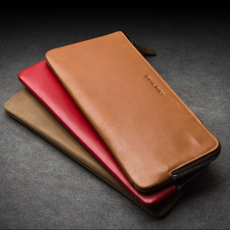 QIALINO 2017 New Wallet Cover for Huawei Ascend Mate 8 Handmade Genuine Leather Case for Huawei Ascend Mate 7 slots for cards