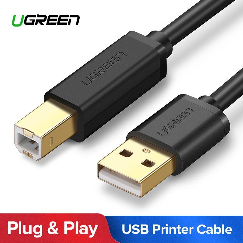 Ugreen USB Drucker Kabel USB Typ B Stecker auf A Männlich USB 3.0 2,0 Kabel für Canon Epson HP ZJiang Label drucker DAC USB Drucker
