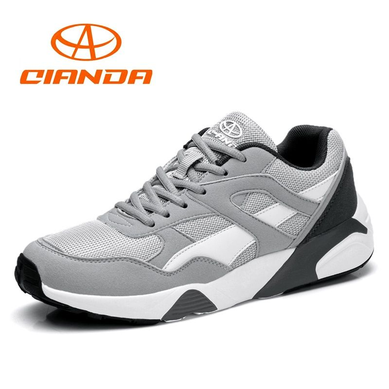 QIANDA Hot Sale Running Shoes Lace-up Cushioning Man Sneakers Light Breathable Sport Shoes Comfortable Jogging for Men US7-10.5