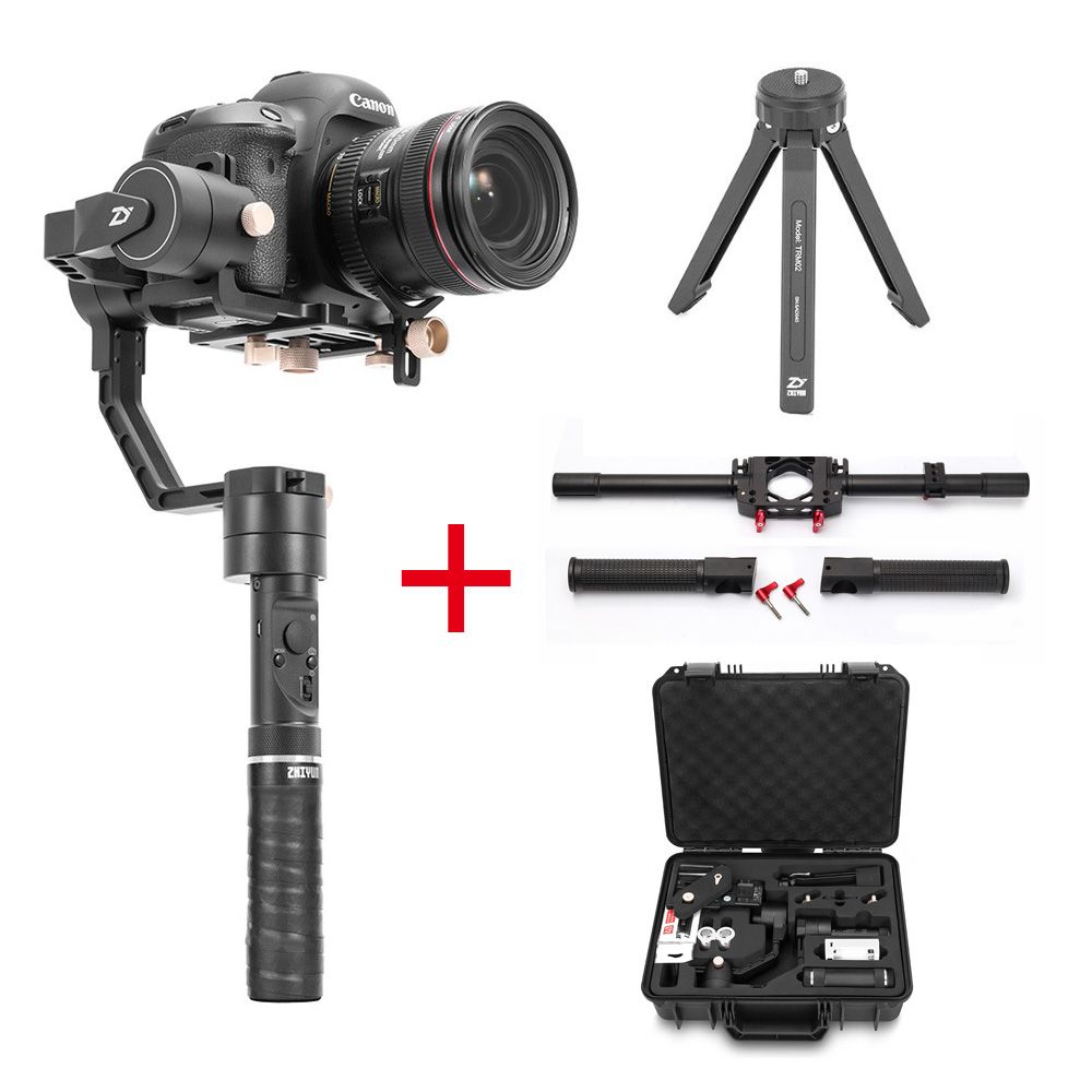 Zhiyun Crane Plus 3 Axis Handheld Gimbal Stabilizer + Dual Handle,for Sony Canon DSLR Camera POV 2.5KG Payload Object-tracking