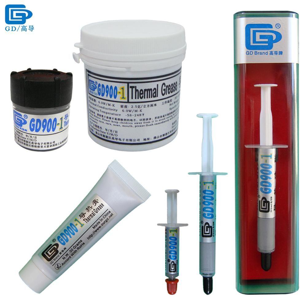GD900-1 pâte de graisse thermoconductrice Silicone plâtre dissipateur de chaleur composé contenant de l'argent CN30 CN150 SSY1 SY3 BX3 ST30
