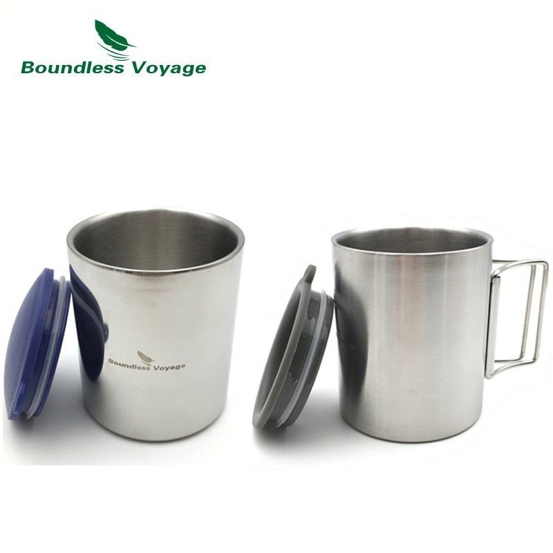 Boundless Voyage 220ml/ 300ml Outdoor Water Cup Double Layer Travel Mug Coffee Cup BV1008/BV1009