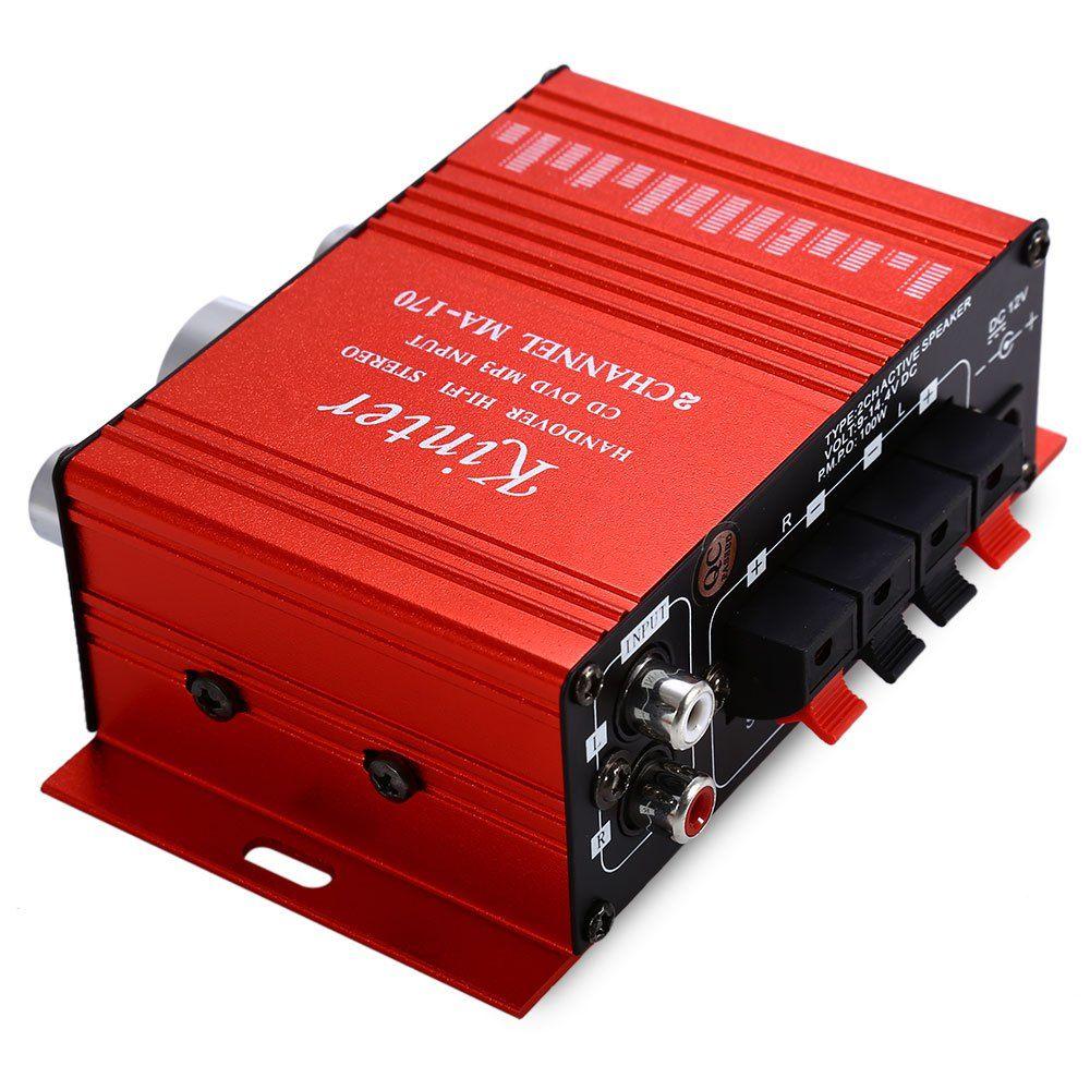 МА-170 Мини 12 В 100 Вт HiFi Стерео Аудио Автомобиля Усилитель мощности Усилитель DVD MP3 Диктор Поддержка LED Сверкающих Объем управления